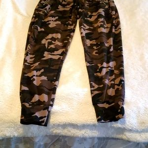 Maternity camouflage joggers
